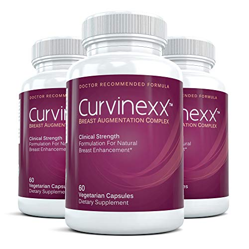 CURVINEXX (3 Bottles) - Natural Breast Toning and Firming Supplement. Lift, Firm and Enhance your Bust Naturally