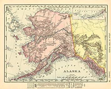 Amazon.com: Alaska State map Showing Boroughs. Pre-Anchorage ...