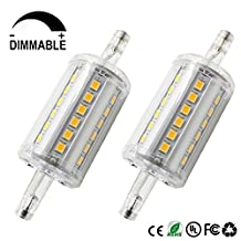 Dayker R7S 78mm LED Light Bulbs, 5W J Type T3 Double Ended LED Bulb, R7S J78 Halogen Replacement Lamp, Dimmable Warm White Floodlight (2 Packs)