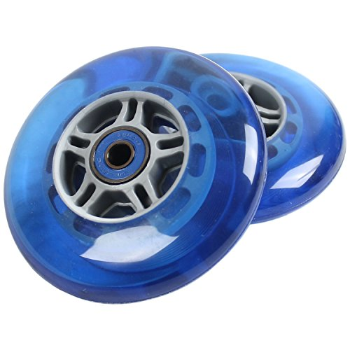 TGM Skateboards 2 Scooter Wheels with ABEC 7 Bearings for Razor Scooter 100mm (Blue)