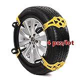 4Pcs Easy Installation Simple Winter Truck Car Snow Chain Tire Anti-skid Belt