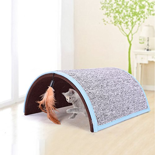 Midsummer Carpet Arch Cat Scratch Board Pet Tunnel House Tent Cat Litter Beds Multifunctional Dog House and Pet Toys,Collapsible,Often used in homes, outdoors, courtyards, parks and during journey by Midsummer (Image #5)