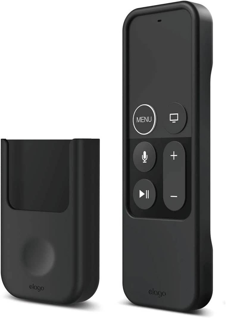 elago Apple TV Remote Holder Mount Bundle with R1 Intelli Apple TV Remote Case - Compatible with Apple TV Siri Remote 4K / 4th / 5th Generation