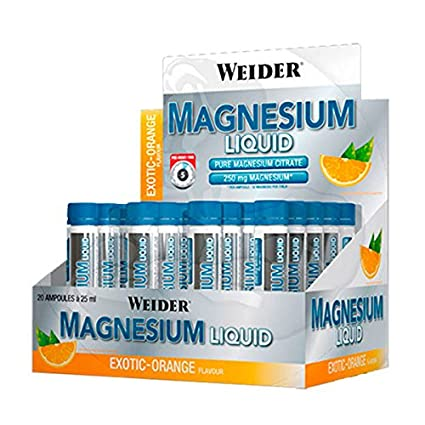 Weider Magnesio Liquido - 20 x 25 ml Exotic - Orange