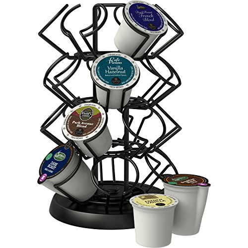 K-Cup Storage Deluxe Steel Spinning Carousel, 24 ct. Keurig, Black by Java Concepts® (Image #2)