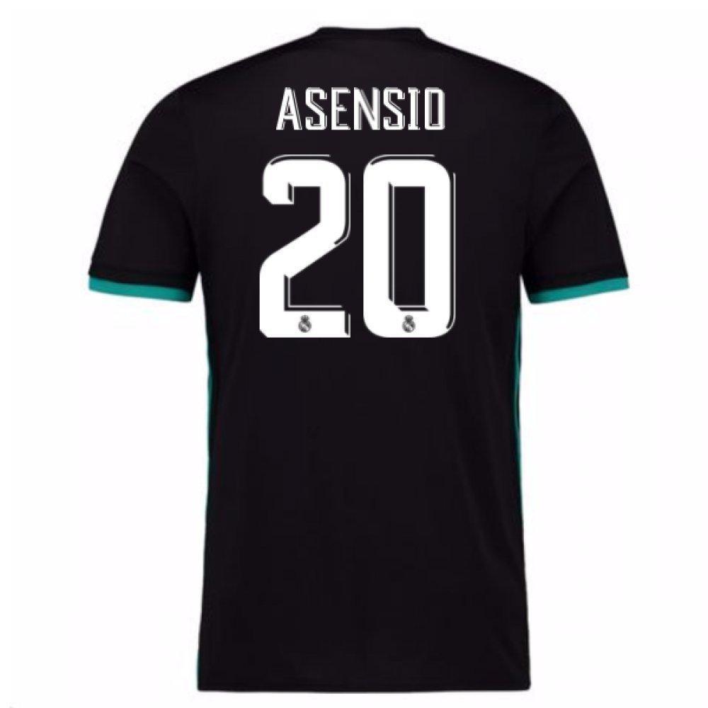 2017-18 Real Madrid Away Shirt Kids (Asensio 20) B078GKNLB4Black Small Boys 26-28\
