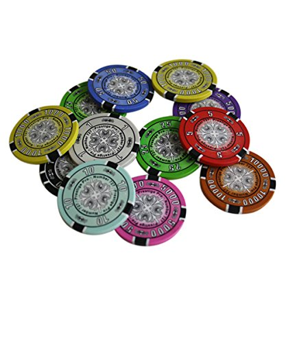 Prestige Pro 14gm Clay Poker Chip Sample Set - 10 New Chips - Clay Poker Poker Pro