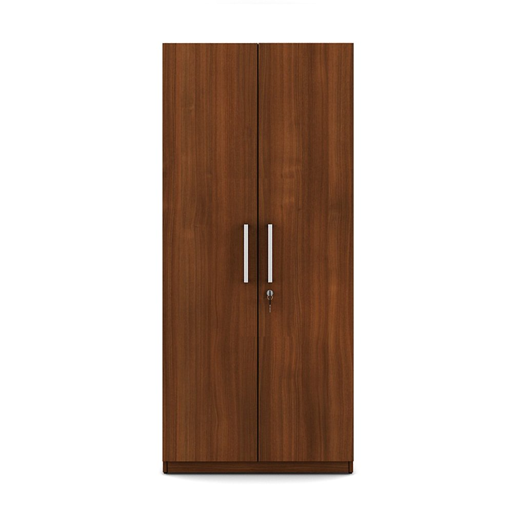 Spacewood Optima 2 Door Wardrobe Walnut Rigato