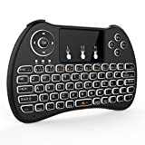 OEM H9 (International Version, Backlit) Wireless 2.4GHz USB Mini Keyboard with Touchpad Mouse Combo for Android TV Box, PC, Laptop, HTPC, PS3, PS4, Xbox One - Black (FMKRFL3-IV)