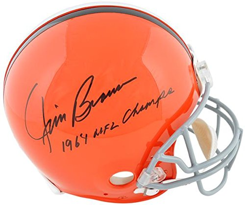 Jim Brown Cleveland Browns Autographed Pro Line Riddell Authentic Helmet with 64 NFL Champs Inscription - Fanatics Authentic Certified ()