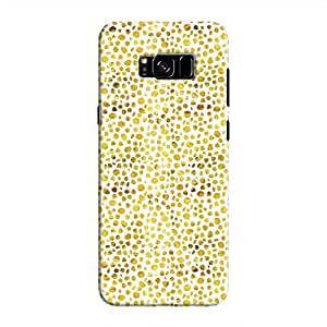 Cover It Up - Gold White Pebbles Mosaic Galaxy S8 Plus Hard Case