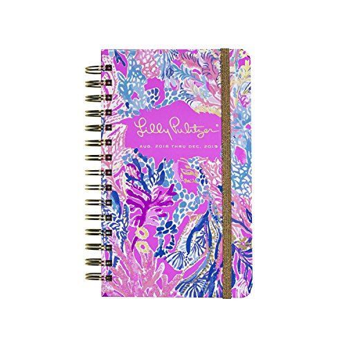 Lilly Pulitzer Medium 17 Month Hardcover Agenda, Personal Planner, 2018-2019 (Aquadesiac)