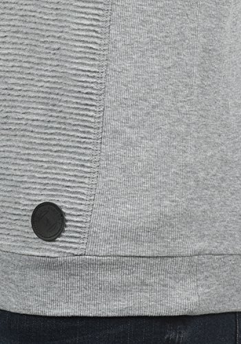 Light solid Pull 8242 Col En Homme Sweat Melange Grey Pour Sweat Rico shirt Rond Sq4RqxvHw