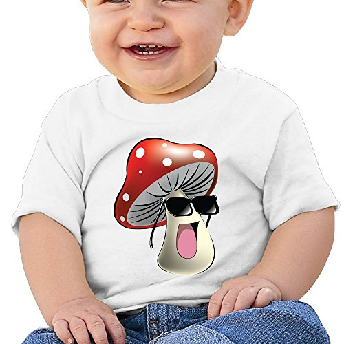 NYCOPI MICJP Little Boys Girls Cool Mushroom Clothes Summer Short-Sleeve Cotton T-Shirts 24 Months