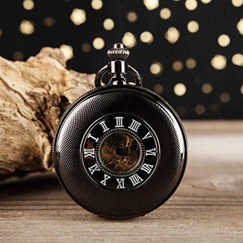 機械式懐中時計レトロノスタルジアローマフリップ懐中時計ネックレス高齢男性と女子学生専用テーブル、色名:3 (Color : 1)