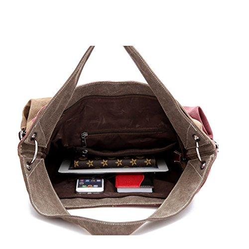 Black Fashion Owarder Shoulder Bag capacity Retro Handbag Bag Portable Hobo Messenger Crossbody Large Purple Bag 6q4xrqE0wd