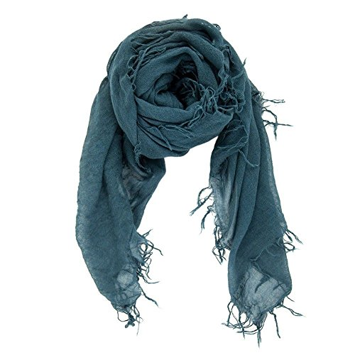 Chan LUU NEW Deep Teal Beautiful Cashmere & Silk Soft Scarf Shawl Wrap by Chan Luu