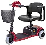 CTM - HS-125 - Lightweight Travel Scooter - 3-Wheel - Burgundy