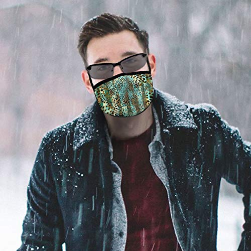 TRAVOTG Animal Prints Mouth Mask,Unisex Mask Personality Print Anti-Pollen Mask Anti-dust and Anti-infective Polyester Face Mask Face-Fitting for Men and Women