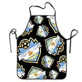 DFHE2SR Soccer Match 2018 Argentina Women's Mens Unisex Chef Aprons Adjustable Cooking Durable Bib Aprons Professional