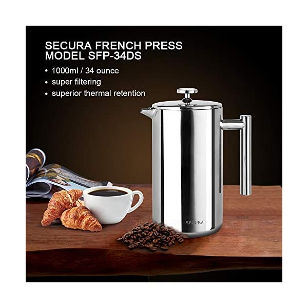 Secura-Stainless-Steel-French-Press-Coffee-Maker-1810-Bonus-Stainless-Steel-Screen-1000ML