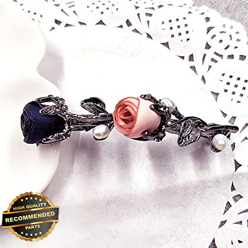 Gatton Premium New Fashion Women Crystal Rhinestone Barrette Rose Flower Hairpin Hair Clip Jewelry | Style HRCL-M182012143