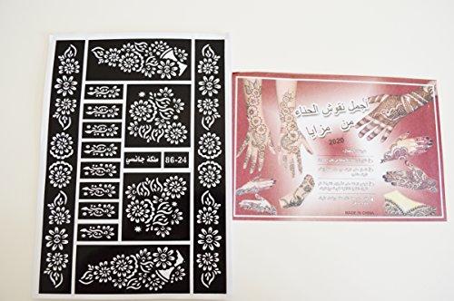 12 Sheets Of Henna Stickers Tattoo Bodyart Mehndi Stencil