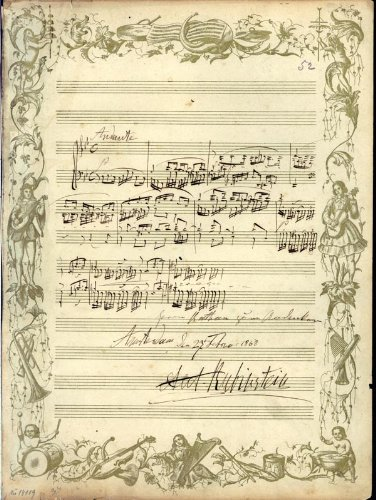 Anton Rubinstein - Autograph Musical Quotation Signed 01/27/1868
