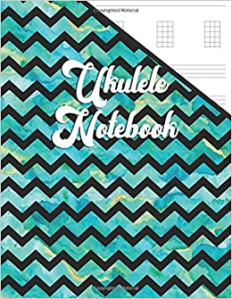 Amazon com: Ukulele Notebook: Pretty Teal Watercolor Ukulele