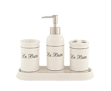 LB H&F Lilienburg 4-teilig. Badezimmer Set aus Keramik Shabby Chic ...