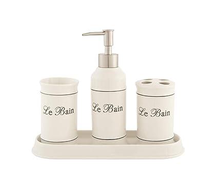 LB H&F Lilienburg 4-teilig. Badezimmer Set aus Keramik ...