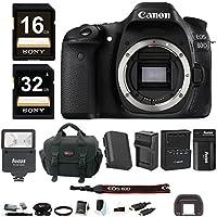 Canon EOS 80D DSLR Camera (Body) w/ Slave Flash & 48GB Bundle Overview Review Image
