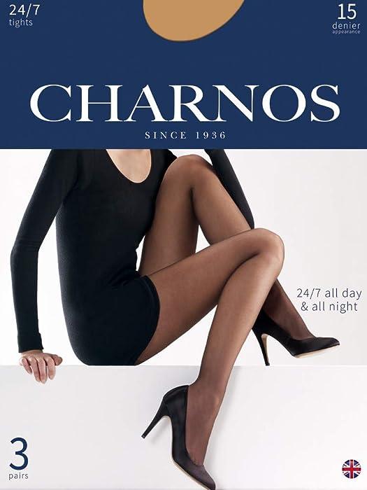 1dc5c8f2b88 Charnos Women s 24-7 Pantyhose - 3 pair pack sherry medium (5 5