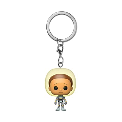 Funko Pop! Keychain: Rick and Morty - Morty with Space Suit, Multicolor, 3 inches: Toys & Games