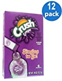 CRUSH Grape Sugar Free Natural Flavors Soft Drink Mix 6 Packets In Each Box (12 Pack)... GL by Grape Crush
