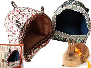 Generic Hammock for Rat Parrot Rabbit Guinea Pig Ferret Hanging Bed Toy House Cage (L)