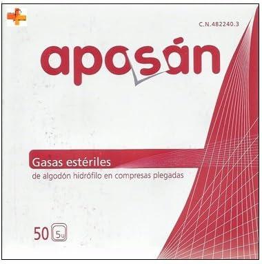 Aposán Gasas Estériles de Algodón Hidrófilo 50 unds: Amazon.es: Salud y cuidado personal