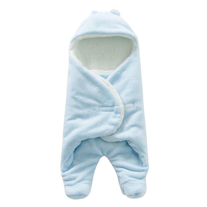 Pueri Saco de Dormir para Bebé Recién Nacido Peleles Infantiles con sentido Confortable (Azul)