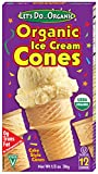 Let's Do Organic Ice Cream Cones, 12-Count Boxes (Pack of 12)