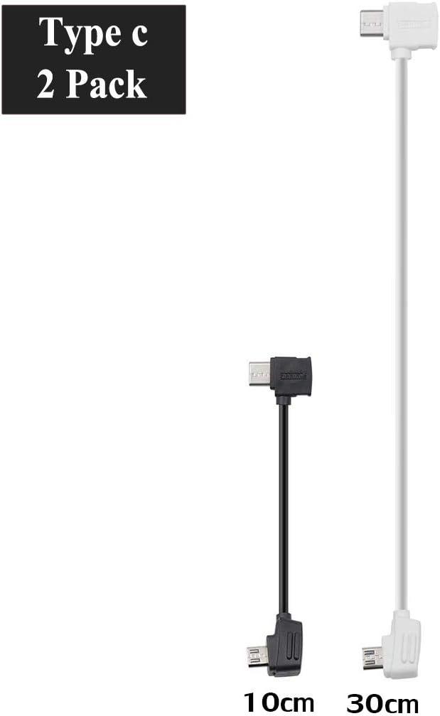 STARTRC Durable Micro USB to Type C USB Cable for DJI Mavic Mini/ Mavic 2 Pro/Zoom/Mavic Air/Mavic Pro/Platinum/Spark Data Cable 2Pack
