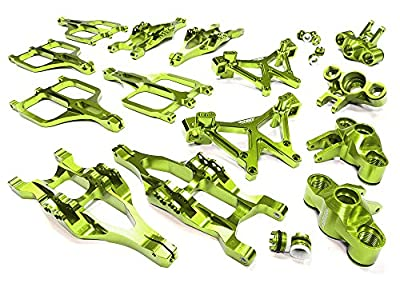 Integy Hobby RC Model C25958GREEN Billet Machined Suspension Set for Traxxas 1/10 T-Maxx/E-Maxx 3903/5/8, 4907/8