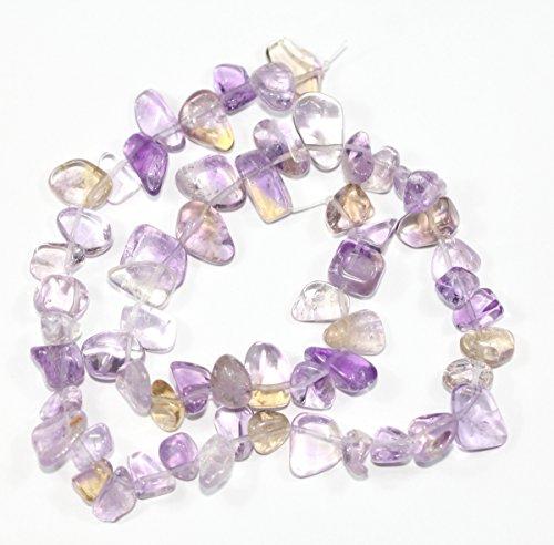 "AAA Natural Ametrine Gemstones Smooth Teardrop Loose Beads Free-form ~18x10mm beads ( ~16"") GZ6-37"