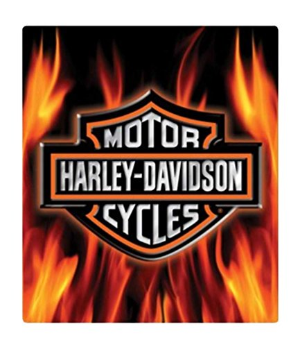 Harley Davidson Motorcycle Bar Shield Logo Neon Table Or: Harley-Davidson Embossed Flaming Bar & Shield Logo Tin