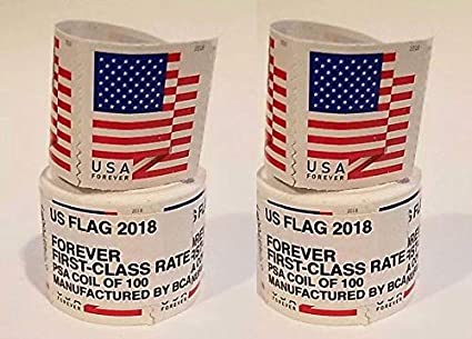 Amazon Com Usps 2018 Us Flag Forever First Class Postage Stamp 2