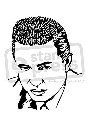 Johnny Cash Stamp - 9