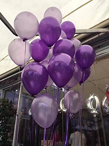 100pcs Latex Pearl Balloons Thicked Round Balloon DEEP PURPLE&LIGHT PURPLE&SILVER balloon Wedding&Birthday Decoration globos Party -