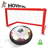 Toyk Kids toys -- LED hover ball set with 2 goals And mini screwdriver - Children Toys for Boys Air Power Training Ball for playing football game with Parents Indoor or Outdoor