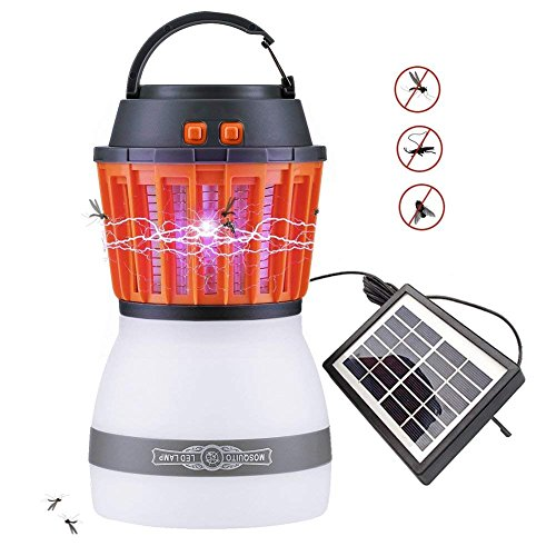 Earthnesst Off Grid Solar Rechargeable Bug Zapper Waterproof Camping Lantern Lightweight Hiking Gear by Earthnesst