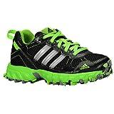 New Adidas Boy's Thrasher Running Shoes Black/Solar Green 10.5