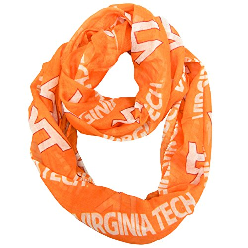 NCAA Virginia Tech Hokies  Sheer Infinity Scarf (Tech Scarf)